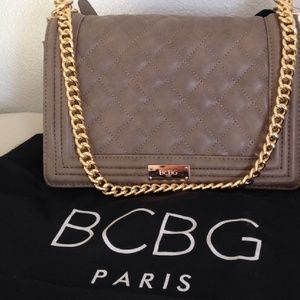 BCBG Shoulder Chain Flap Purse